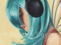 Faerie Funk #3 Headphone Fairy Blue Hair Fairy FANTASY ART Print Urban Fairy Hiphop Faerie Modern Fairy