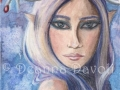 Freya Winter Goddess Art Fairy ART Print Fantasy Art Pagan Art Fairy Portrait Elf Freya