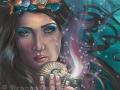 Ace of Cups Art Print 78 Tarot Deck Mermaid Art