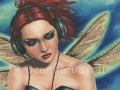 Duet 1 Punk Fairy Art Fantasy Art Print Music Fairy Headphone Fairy Faerie Art