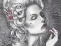 Marie Antoinette Let Them Eat Blood - Versailles Rococo Vampire Portrait