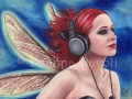 Duet 2 Headphone Fairy Art Music Fairy Red Hair Fairy Fantasy Art