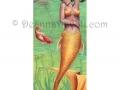 Koi Fish Mermaid Art Fantasy Art Print Fantasy Art Pond Lilypad