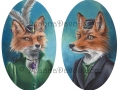 Fox Art Print Mr Fox Mrs Fox Couple Victorian Foxes Fantasy Art Animal Art Foxes in Clothes
