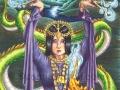 9 of Wands Art Print 78 Tarot Deck Art Wall Art Dragon Art Asian Art 78 Tarot Carnival Art