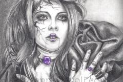 Amethyst - Birthstone Art Gothic Art Broken Doll