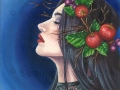 Morgan Le Fay Art Print Fantasy Art Wall Art Apples Art Camelot Fairy Tale Celtic Art