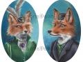 Fox Art Print Mr Fox Mrs Fox Couple Victorian Foxes Fantasy Art Animal Art Foxes in Clothes